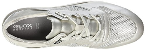 Platin D Femme Sneakers Argent Shahira ivoryc2228 platinum Geox weiss Basses B xSdY6YOq