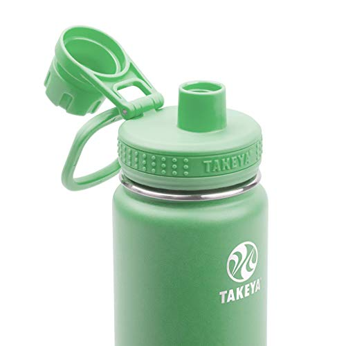 Takeya Actives Insulated Water Bottle w/Spout Lid, Mint, 18 Ounce