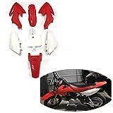 HK Group Motorctcly Red Plastic Fender Kit Body Work Fairing Kit For Honda CRF XR XR50 CRF50 Clone 125CC Pit Dirt Bike