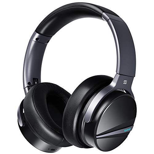 SHIVR Active Noise Cancelling Headphones, Wireless Bluetooth Headphones w/Immersive Audio, Over Ear Headphone w/Microphone, Built-in Gyroscope Smart Play/Pause, Ambient Sound Mode 20 Hrs Playtime