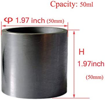 Gold Silver Copper Smelting Graphite Crucible Cup with Lid Lab Supply 100X100MM