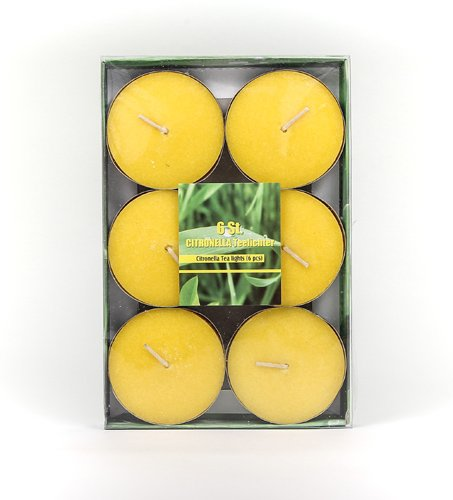 Jumbo Citronella Scented Tea Lights Diameter Approximately 5.8cm Lemon Tea Lights Outdoor Candle approx. burn time Anti Mosquitoes Stolz GmbH