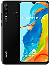 "Huawei P30 Lite Smartphone, Dual-SIM Android Mobile Phone with 6.15"" FHD Dewdrop Display, Ultra-wide Rear Triple Camera, 4GB RAM+128GB ROM, Midnight Black - Australian Version"