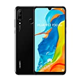 "Huawei P30 Lite (128GB, 4GB RAM) 6.15"" Display, AI Triple Camera, 32MP Selfie, Dual SIM Global 4G LTE GSM Factory Unlocked MAR-LX3A - International Version (Midnight Black)"