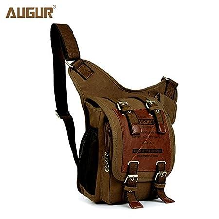 Amazon.com: Augur New Retro lona bolsas de los hombres de ...