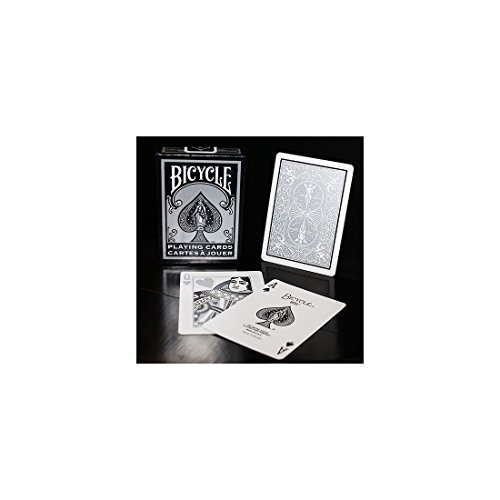 BICYCLE BLACK/SILVER AND WHITE PLAYING CARDS