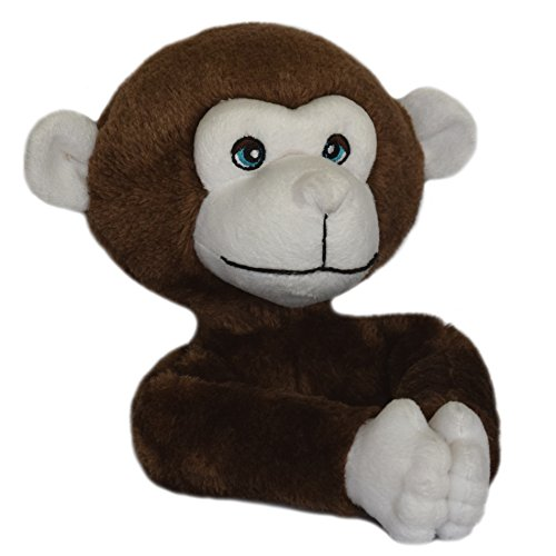 Critter Monkey - Curtain Critters ALCHMY150909SET Plush Safari Chocolate Monkey Curtain Tieback Set- 2