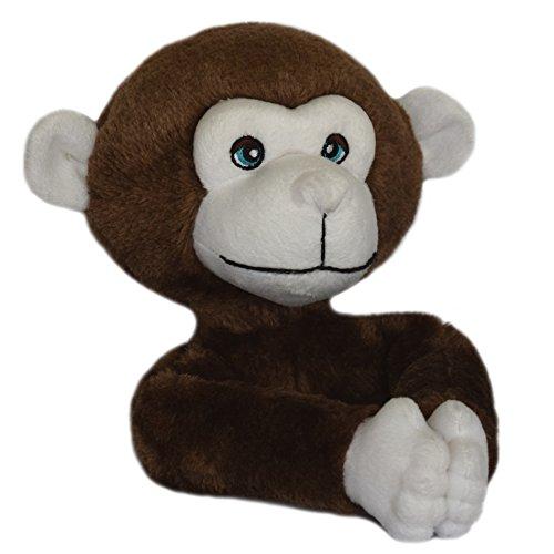 Critter Monkey - Curtain Critters ALCHMY150909SET Plush Safari Chocolate Monkey Curtain Tieback Set- 2