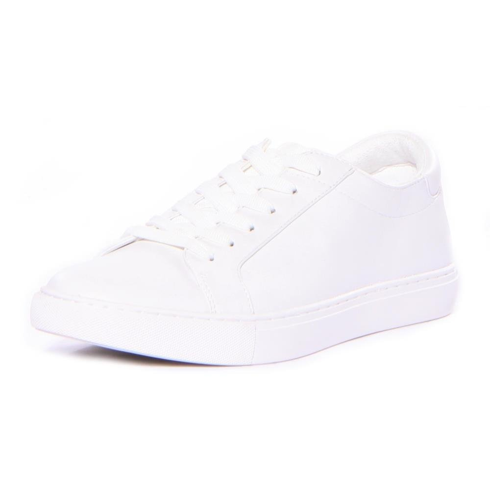 Kenneth Cole New York Women's Kam Techni-Cole Lace up Leather Fashion Sneaker, White, 7.5 M US
