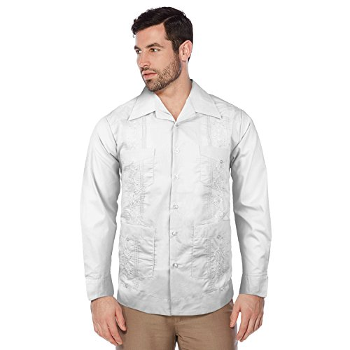 Alberto Cardinali Mens Guayabera Long Sleeve Cuban Traditional Dress Shirt