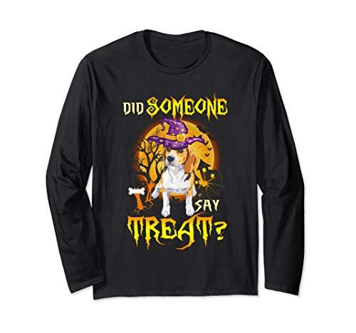 Did Someone Say Treat Beagle T Shirt Gift Halloween Costume Long Sleeve T-Shirt