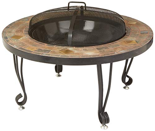 AmazonBasics 34-Inch Natural Stone Fire Pit with