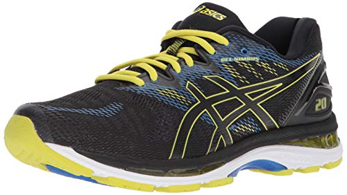 ASICS Men's Gel Nimbus 20 Running Shoes, Black/Sulphur Spring/Victoria Blue, 12 M US