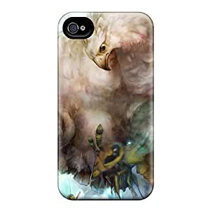 Iphone 4/4s Dragons Crown Print High Quality Tpu Gel Frame Case Cover