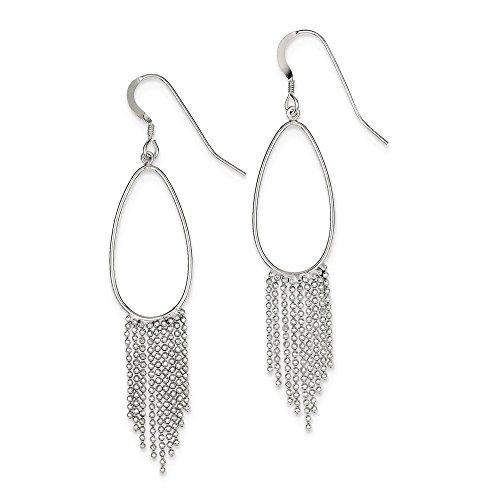 Sterling Silver Fancy Fringe Dangle Earrings (2.7IN x - Fringe Fancy