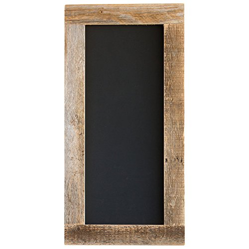 Barnwood Framed Chalkboard | Wall Mount | Handmade Rustic Reclaimed Wood | 24 x 12 Inch – Natural