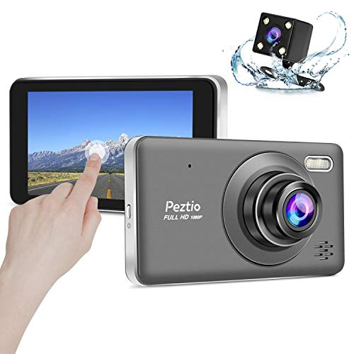 Dual Dash Cam Front and Rear, 1080p HD Car DVR Dashboard Camera Recorder with Night Vision, 4 inch IPS Touch Screen, 170 Super Wide Angle, G Sensor, Parking Monitor, Motion Detection, WDR (Best Dual Dash Cam)
