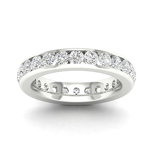 - IGI Certified 14k White Gold 2 ct TDW Diamond Eternity Wedding Band (H-I, I2)