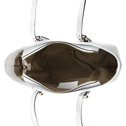 épaule pour 12 Florence 23 Cuir Made Porté Véritable cm Sac 34 Femme in Blanc UwgC5WqE