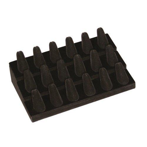 (Regal Pak One Piece Black Velvet 18 Finger Ring Stand 8 1/4
