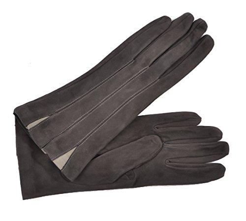 (Women's Silk Lined Italian Lambskin Suede Dress Gloves -)