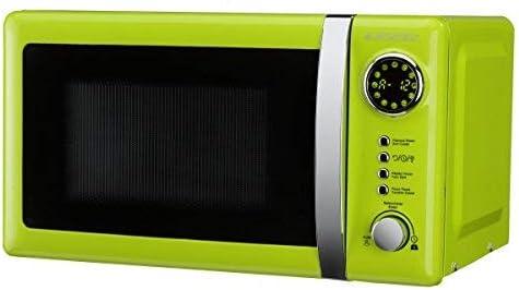 Opinión sobre ElectrodomesticosN1 Pack Microondas Jocel JMO001337, 20 Litros, Verde, 800 w + juego 2 manoplas