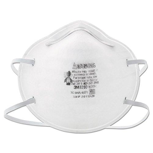 3M 8200 Particulate Respirators, 20-Pack
