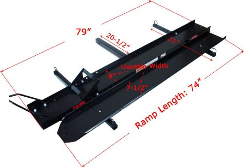 ALEKO A-600 600 Lbs Hitch Mounted Sport Motorcycle Carrier or Scooter Dirt Bike Carrier Hauler Rack Ramp