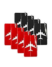 Aluminum Luggage Tags Holders, 8 Pack, Luggage Baggage Identifier by iMucci