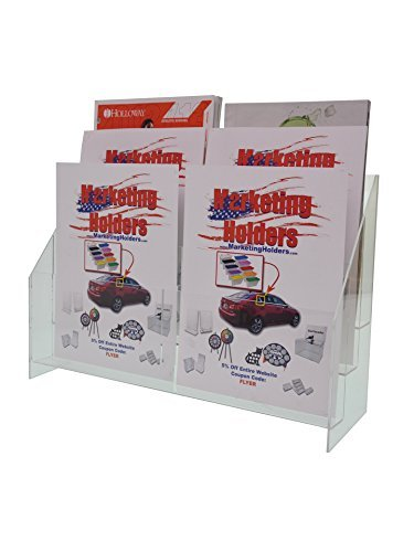 Marketing Holders Counter-top Magazine Stand for 8.5x11 Catalogs 6 Pocket (pack of 1) by Marketing Holders