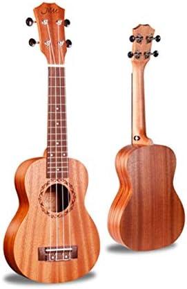 ウクレレ、ウクレレ、ウクレレ、フォークギター、ウクレレ初心者入力機器、21インチ、23インチ、26インチのウッドカラー (Color : Brown-21 inches)