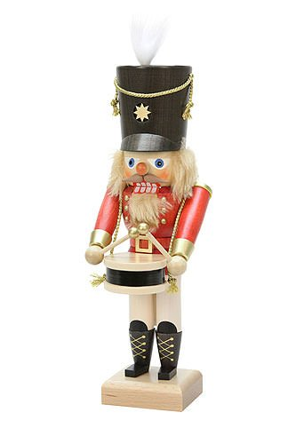 German Christmas Nutcracker Drummer Red - 28,5cm / 11 inch - Christian Ulbricht by Ulbricht