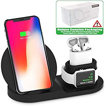 Wireless Charger, Compatible iph one Charger, 3-in-1 Replacement Charging  Station for iph one Xs/X Max/XR/X/8/8Plus/Watch (BLC)