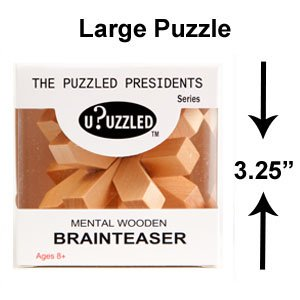 Clevelands Bright Star Large 3D Wooden Puzzle Brainteaser Puzzles Monthly