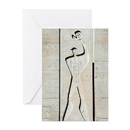 CafePress - Le Corbusier Design - Greeting Card, Note Card, Birthday Card, Blank Inside Glossy