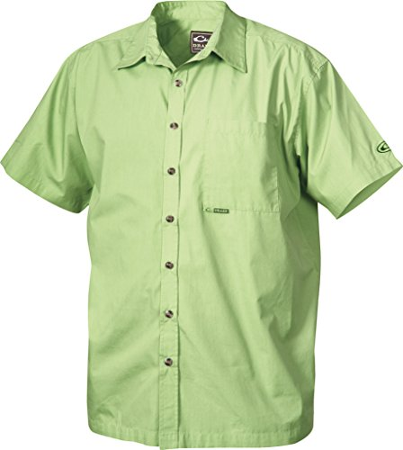 Drake Men's Camp Short Sleeve Shirt (X-Large, Kiwi)