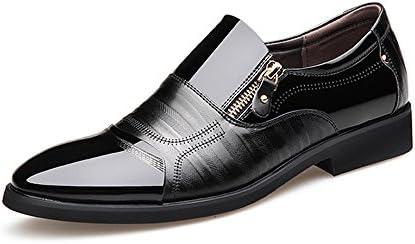 滑らかなPUレザースプライスジッパー装飾スリップオン通気性メッシュオックスフォードメンズビジネスシューズ 快適な男性のために設計