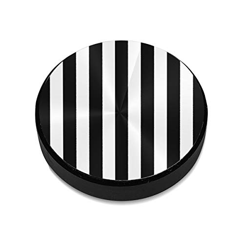 Magnetic Phone Holder for Car Black White Stripe Aluminum Alloy Portable Car Mount Strong Magnets Holder Compatible iPhone Xs Max XR X 8 7 Plus Galaxy S9 S8 Plus Note 9 8 and More