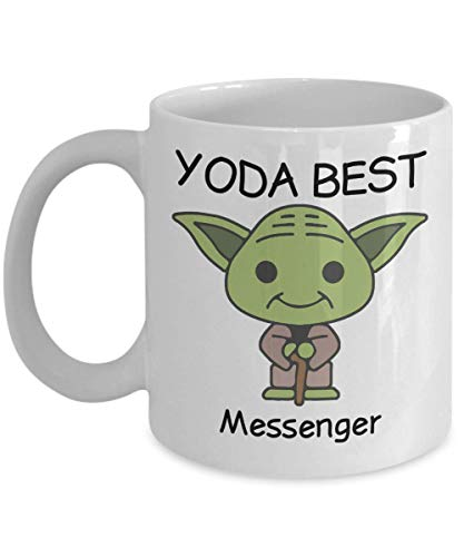Novelty Gift Mug for Star Wars Fans - Yoda Best Messenger - Co-Workers Birthday Present, Anniversary, Valentines, Special Occasion, Dads, Moms, Family, Christmas - Funny Coffee Mug ()