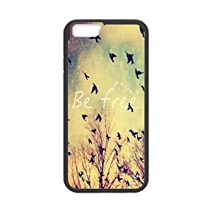 Be Free Black Stylish Cover Case Cover For Apple Iphone 6 4.7 Inch with high-quality Plastic