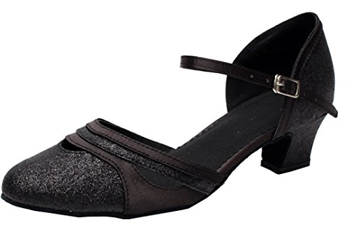 Mariage 2 Chaussures Cfp De 7 Womens De Pu Salsa Fête j De Bal Danse J Talon Tango Salle Latine noir 7012 66qxOnU