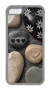 ipod touch4 Case, ipod touch4 Cases -Heart Shaped Rocks12 TPU Rubber Soft Case Back Cover for ipod touch4 Transparent