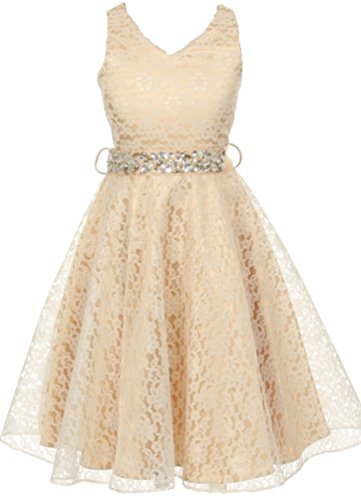 AkiDress Floral Lace with Rhinestone Bel - Little Mass Ruffled Skirt Shopping Results