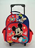 """12"""" Mickey Mouse Rolling Backpack-tote-bag-school"""