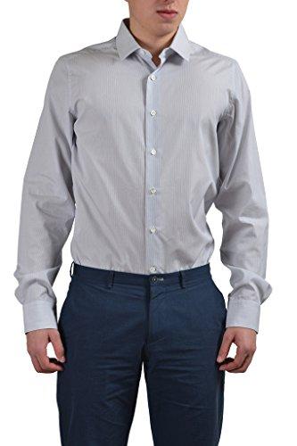 Dresses Designer Valentino - Valentino Men's Multi-Color Striped Dress Shirt US 17.5 IT 44