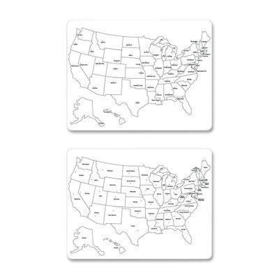 Creativity Street Two-Sided U.S. Map Whiteboard, 24 x 18 (CKC9873) by Creativity Street by Creativity Street