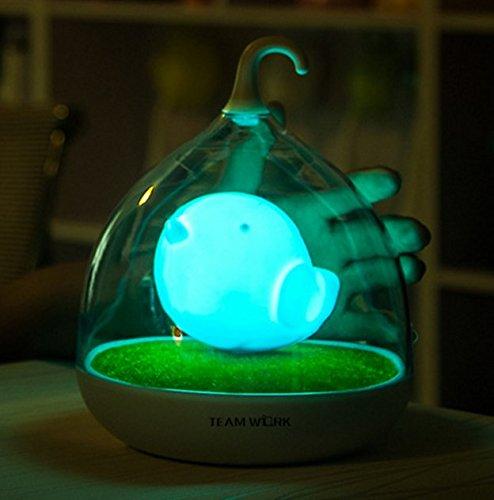 子供の夜ライト携帯型デザインタッチセンサー振動鳥かごランプBird Night Lights – 充電 – 子供、赤ちゃん、バレンタインギフト、屋外のランプ Zendrian B073W9LJTS ブルー ブルー
