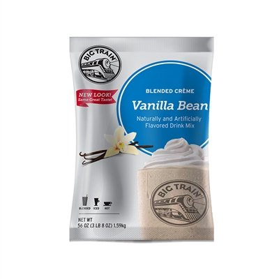 Frappe Mix (Big Train Vanilla Bean Blended Crème Frappé Mix 3 lb  Bulk Bag)