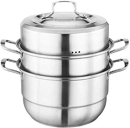 XIN Cocina Olla Vapor Vaporera Conjunto Vapor Pan con Tapa for ...