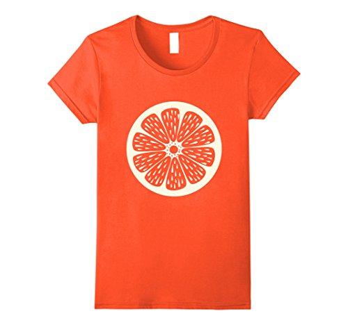Womens Orange Fruit Pulp Cute Cheap Halloween Costume T-Shirt Medium Orange (Cheap Group Halloween Costumes Work)